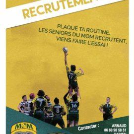Recrutement Rugby Compétition Saison 2021/2022